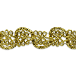 Expo Int'l Gwen Lacey Metallic Braid Trim by the yard