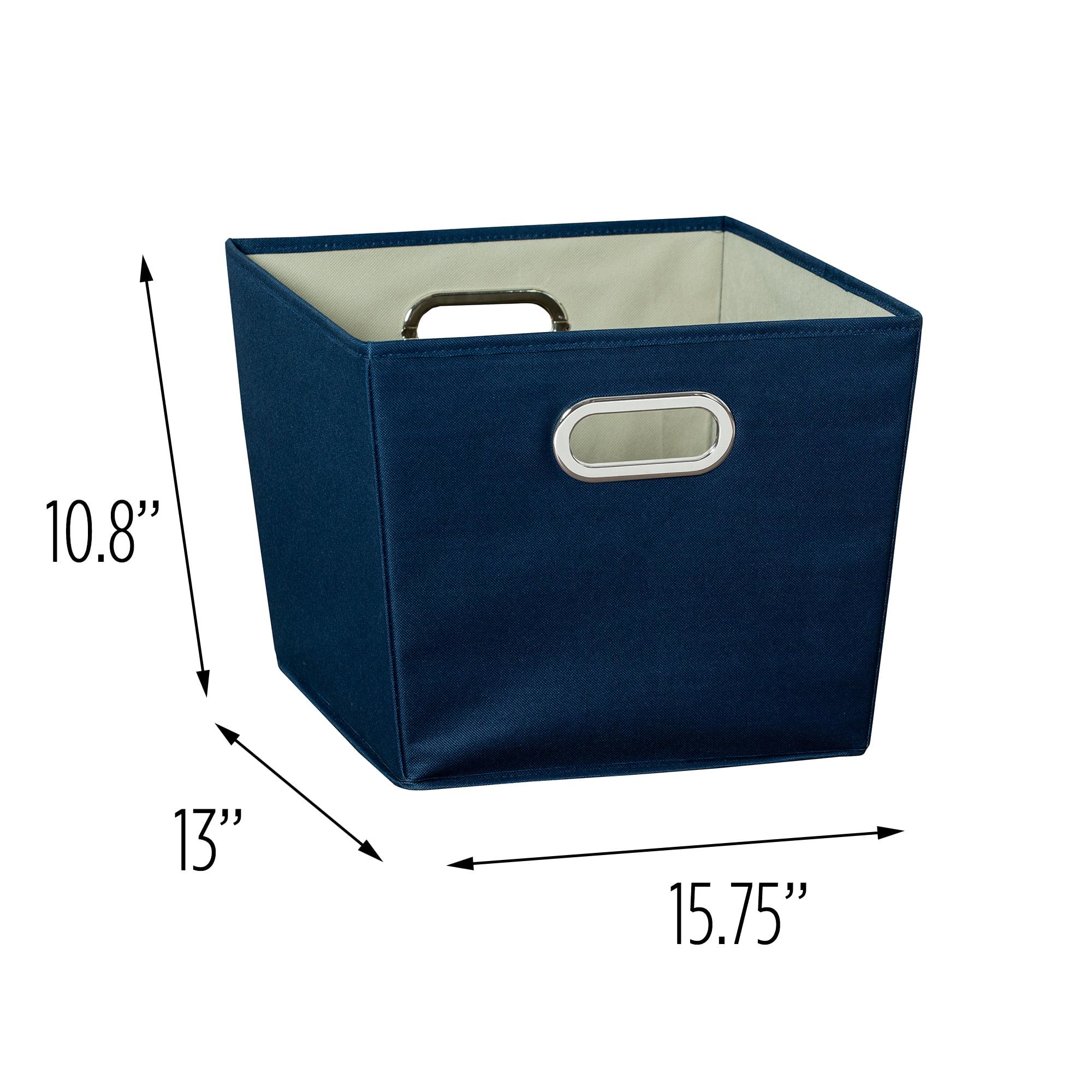 Honey-Can-Do Medium Storage Bin, Navy