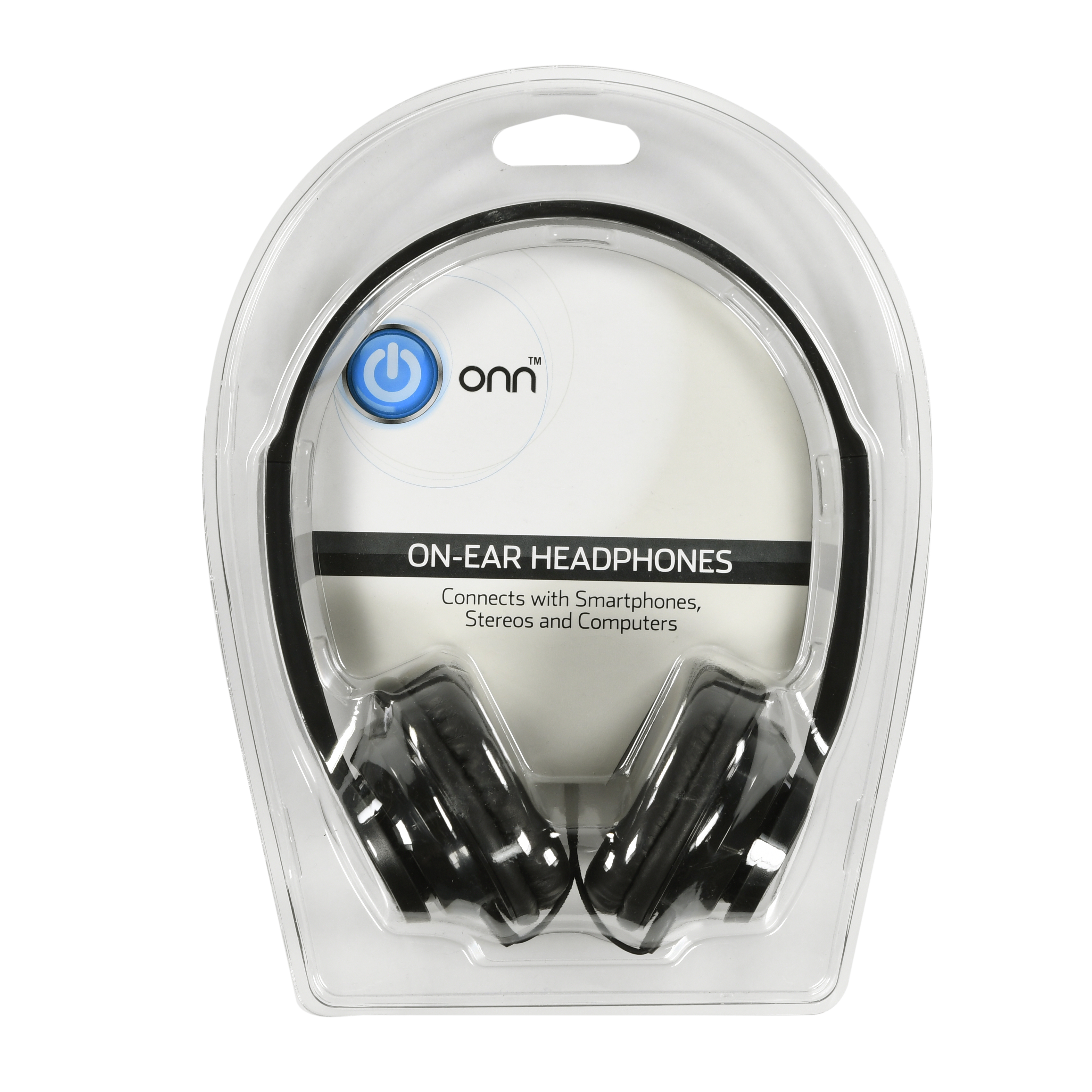 Onn by Walmart On-ear Headphones, Black