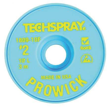 TECHSPRAY 1809-10F Pro Wick Yellow #2 Braid - AS