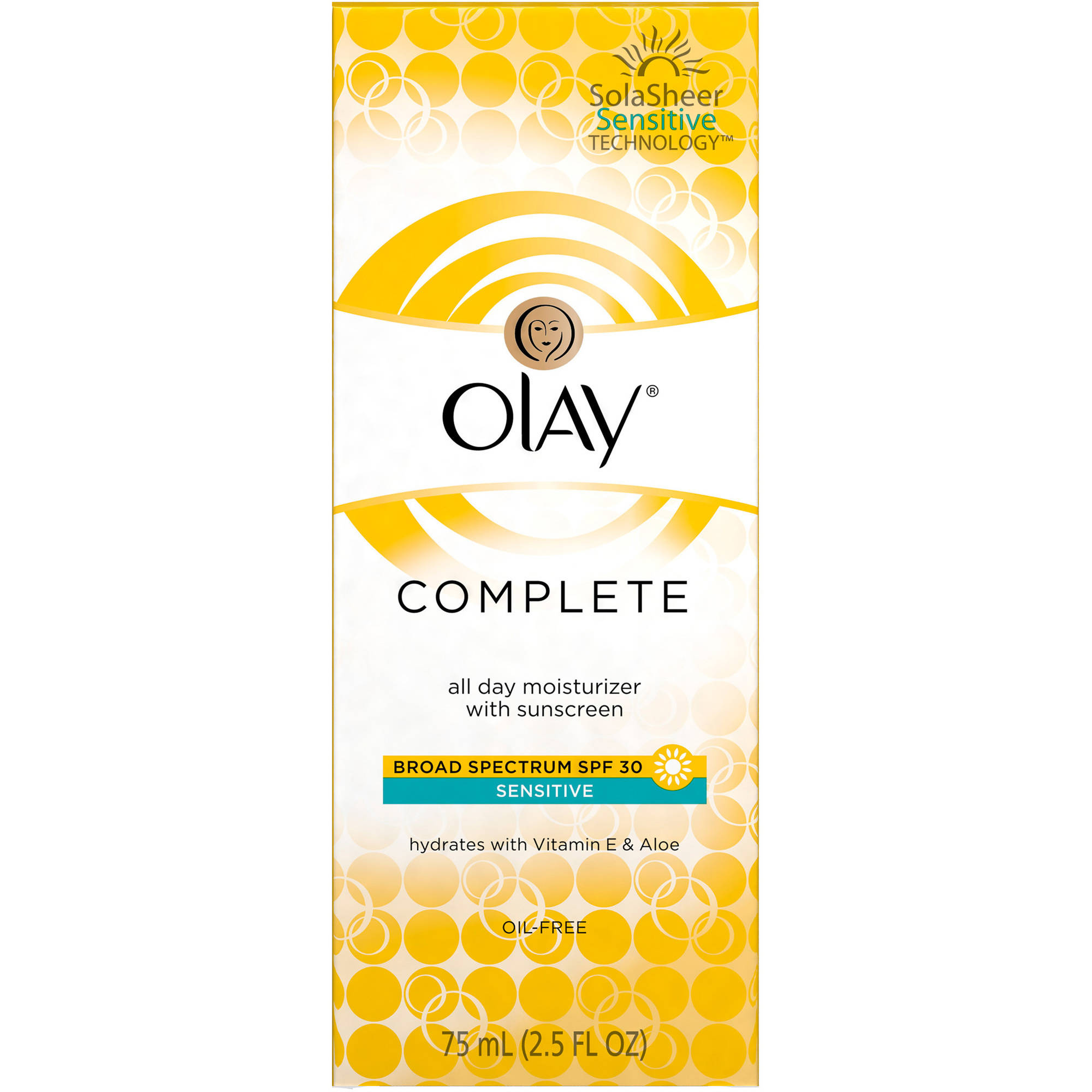 Olay Complete All Day Facial Moisturizer with Broad Spectrum SPF 30 - Sensitive, 2.5 fl oz