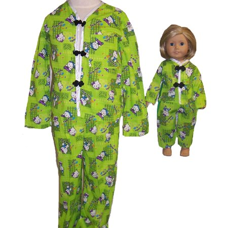 Size 7 Matching Girl and Dolls Clothes Pajamas