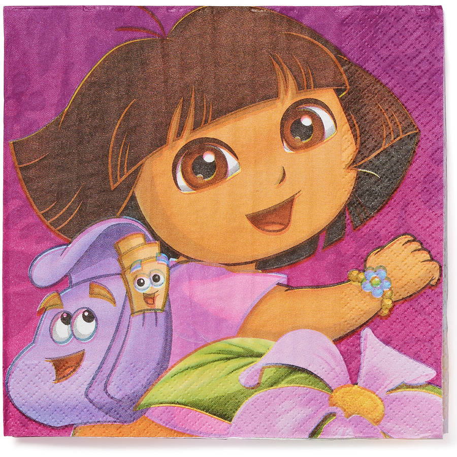 Dora the Explorer Lunch Napkins, 16 Count, Party Supplies