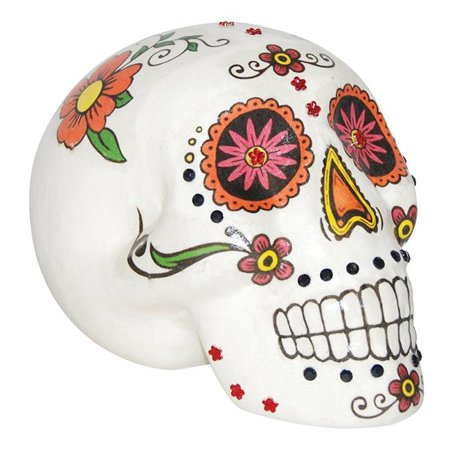 7 in. Sugar Skull Warm - Half Sugar Skull Face Halloween