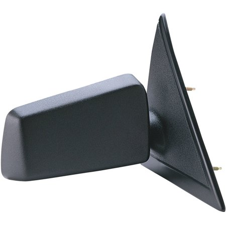 62005G - Fit System Passenger Side Mirror for 94-99 Chevy S10 Pick Up, GMC Sonoma Pick-Up, black, non-foldaway, Manual