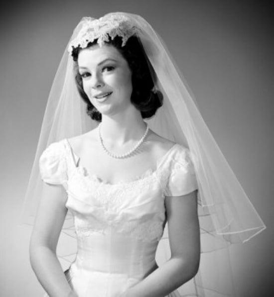 Young bride portrait Poster Print