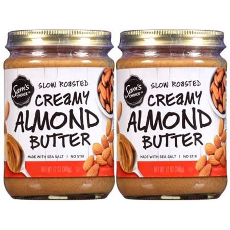 - (2 Pack) Sam's Choice Slow Roasted Creamy Almond Butter, 12 oz