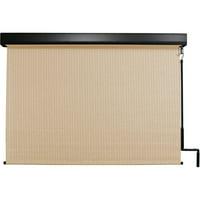 Keystone Fabrics 6' x 8' Pole Operated Outdoor Sun Shade with Protective Valance, Telluride