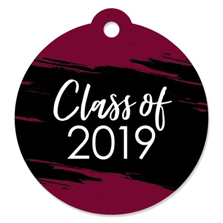 Maroon Grad - Best is Yet to Come - Burgundy 2019 Graduation Party Favor Gift Tags (Set of