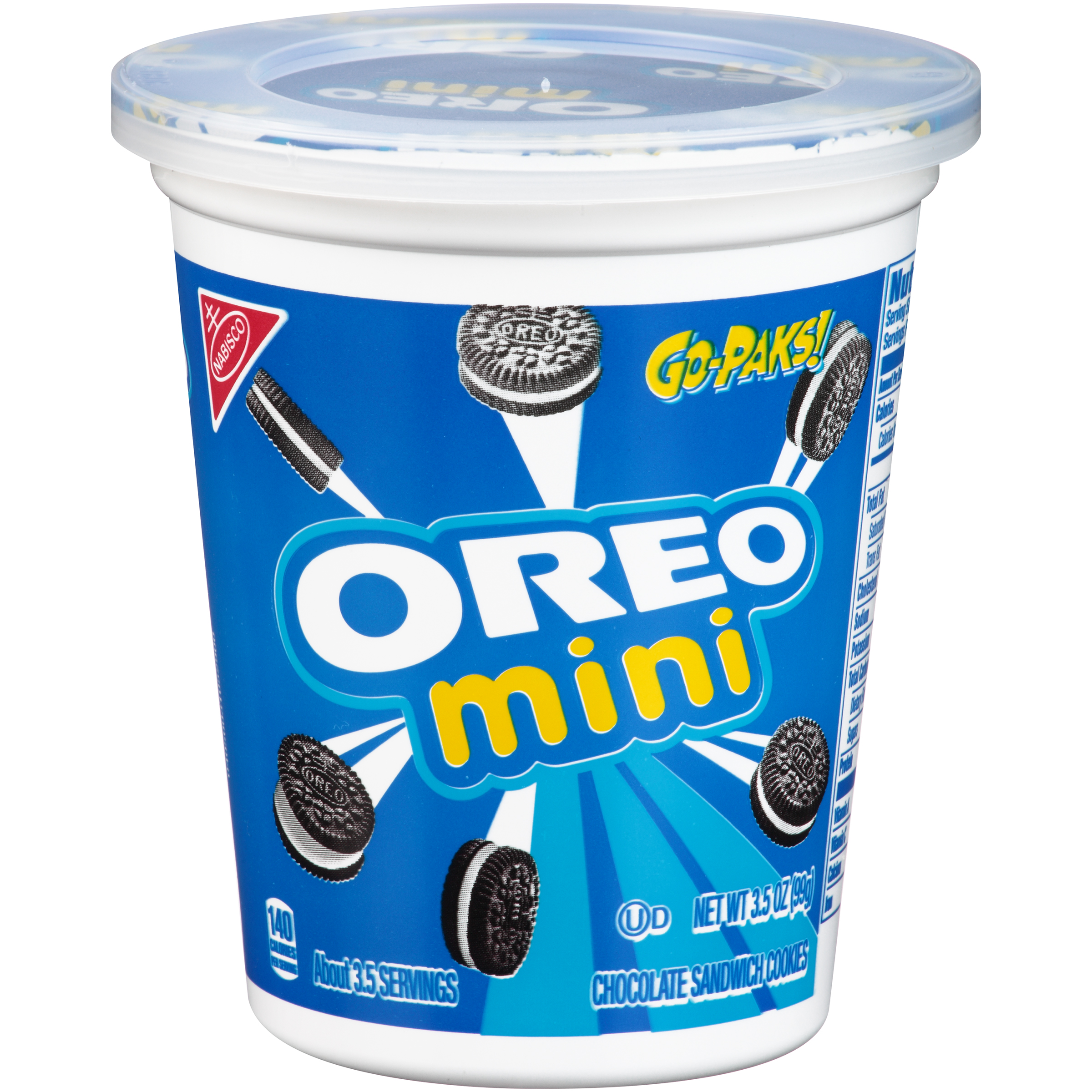 Oreo Mini Chocolate Sandwich Cookies - Go-Pak, 3.5 oz