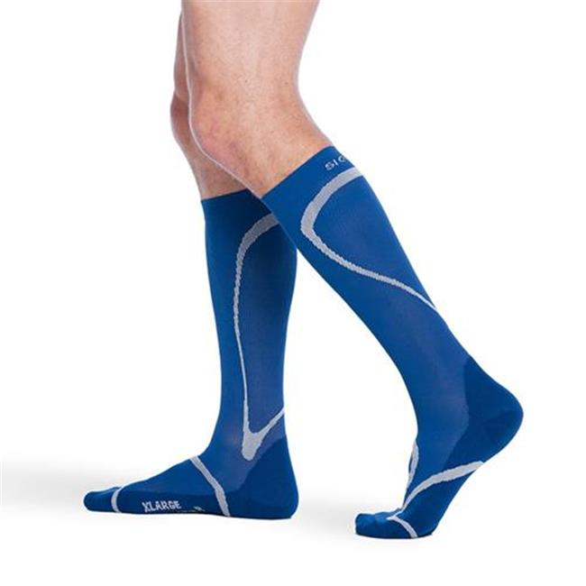 Sigvaris 412CXS50 20-30mmHg Knee High Compression Sock; Extra Large And Short; Blue