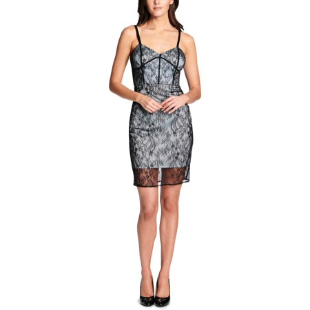 Guess Womens Lace Bustier Sheath