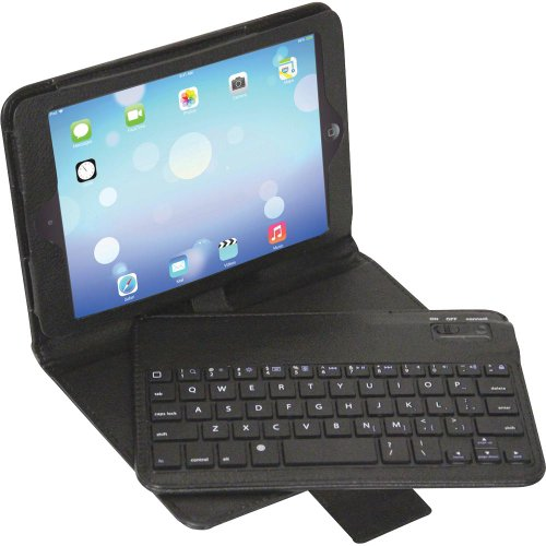 Patriot Memory Titan Keyboard/cover Case [folio] For Ipad Mini - Faux Leather (pctcskmbk1)