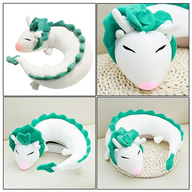 Grtsunsea Pet Pillow Anime Spirited Away White Dragon Haku Cute Doll Stuffed Animal Plush Toy Soft Pillow Neck U Shape Walmart Com Walmart Com