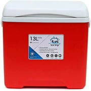 SMG Portable Refrigerator 12 Volt Refrigerator Fast Cooling Small Freezer,Electric Coolers Car Fridge for Vehicles,RV,and Camping-12V/24V DC and 110V/240V AC (Color : Red)
