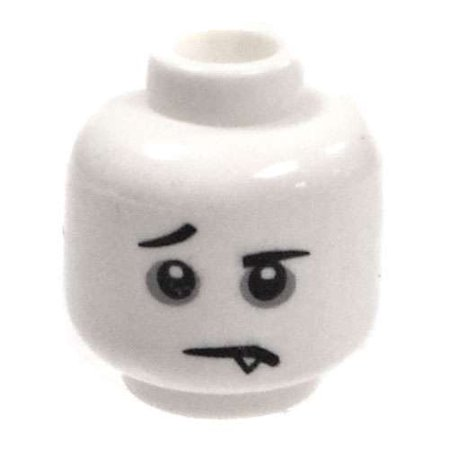 LEGO Minifigure Parts White Young Vampire Minifigure Head - Lego Halloween Vampires