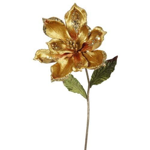 The Holiday Aisle Magnolia Artificial Christmas Stem (Set of 3)