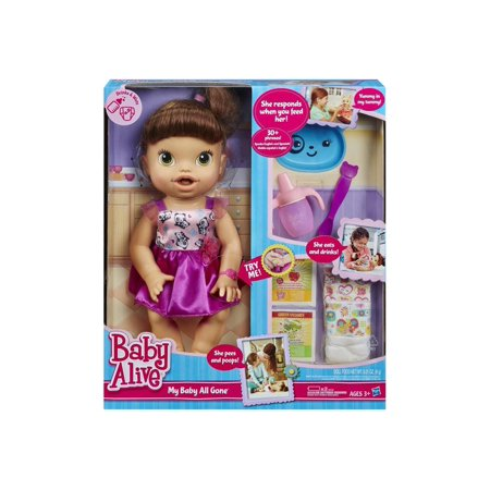 Baby Alive Clothes At Walmart Best Baby Alive My Baby All Gone Doll Brunette Hair Walmart