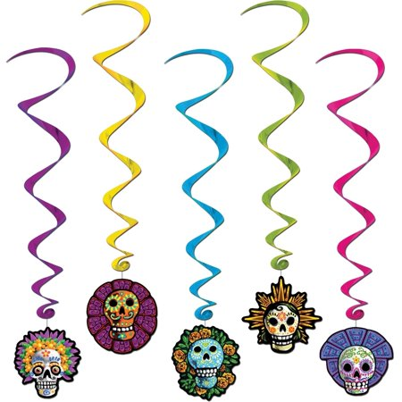 Day of the Dead Whirls Halloween Decoration