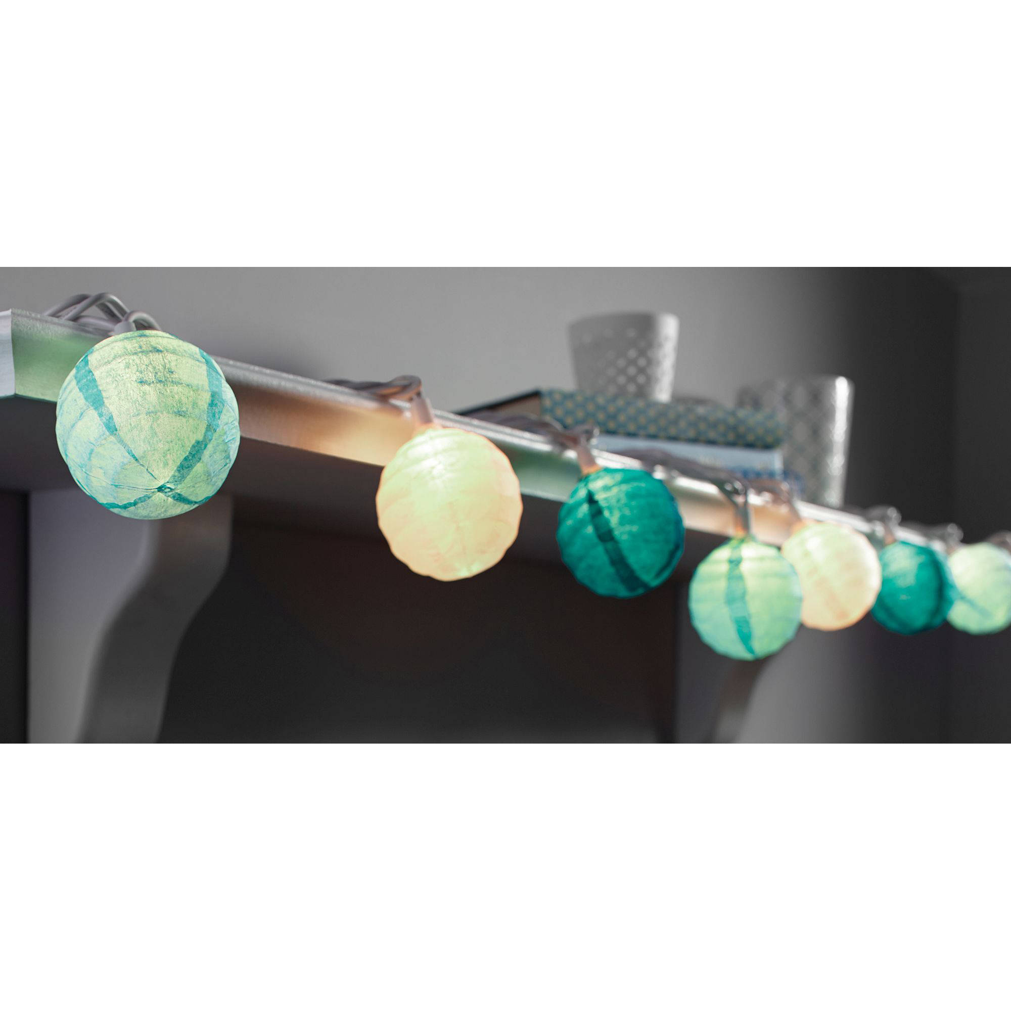 "Mainstays 11 6"" Paper Lantern String Lights 10 Bulbs Walmart"