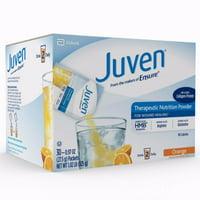 Juven Orange Arginine / Glutamine Supplement Powder, 0.97 Ounce Individual Packet - Box of 30