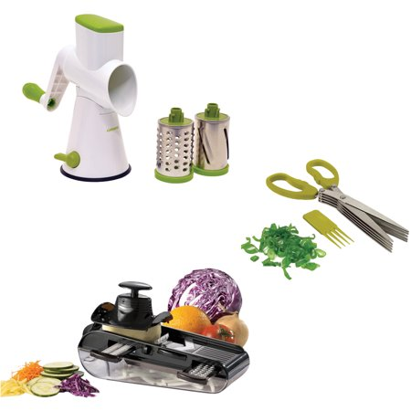 Starfrit Must Have Gadgets, Herb Scissors, Mandoline and Drum Grater