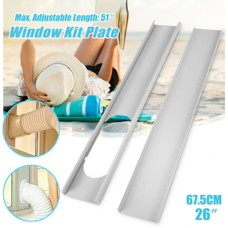 2Pcs 130cm Adjustable Window Slide Kit Plate Spare Parts For Portable Air Conditioner (Carrier Air Conditioning Parts)