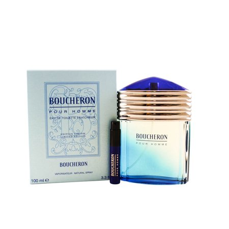 Boucheron Eau De Toilette Fraicheur Spray 3.3 Oz / 100 Ml Limited Edition for Men by Boucheron