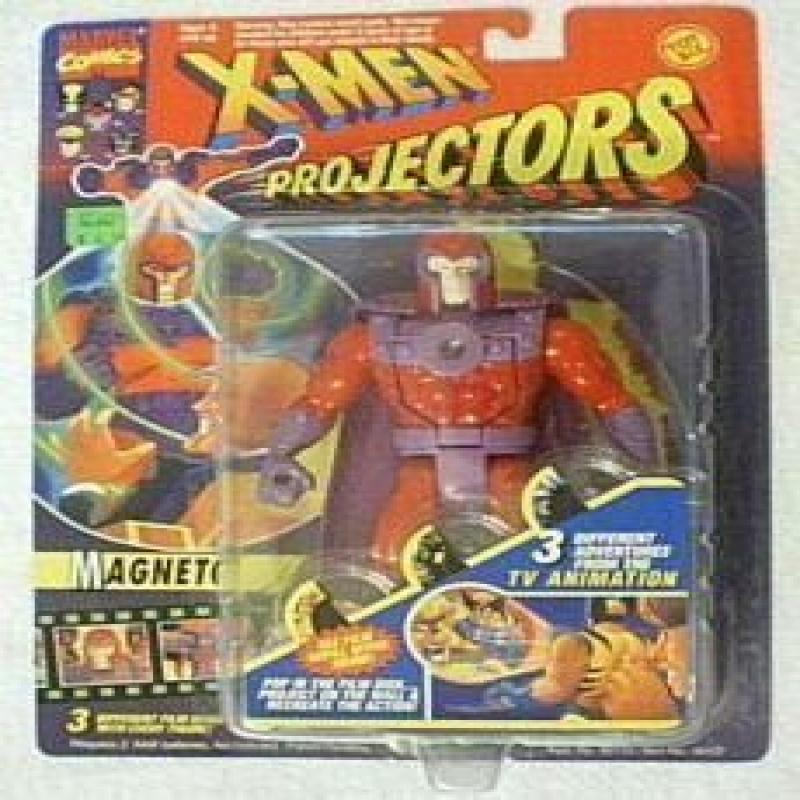 X-Men Projectors Magneto Figure with 3 Different Film Disks by Toybiz by