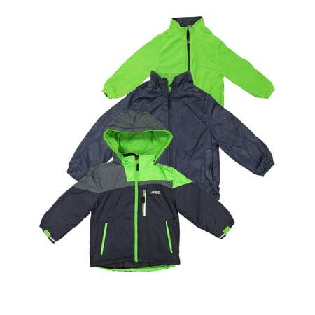 London Fog Boys Heavy Weight System Jacket - Navy 5/6 (Winter Coat) (Fox Jackets For Men)