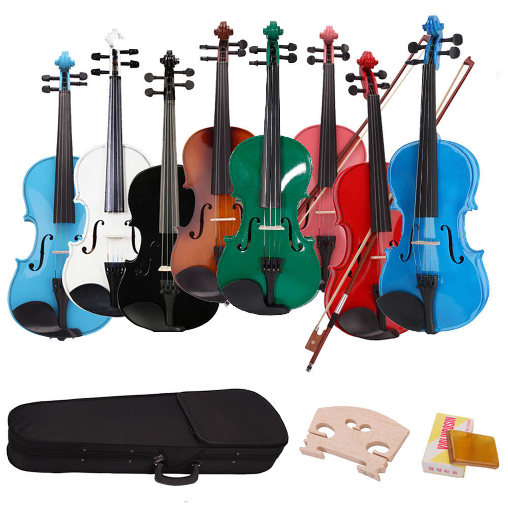 Ktaxon 1/8,1/4,1/2,3/4,4/4 Acoustic Violin Fiddle with Case Row Rosin for beginning and Student