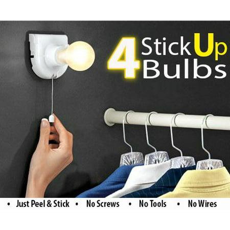 Wireless Stick Up Instant Light Bulb - Cordless Mountable Portable Light Bulb - Install Anywhere For Instant Lighting - 2pc](Light Sticks Bulk)