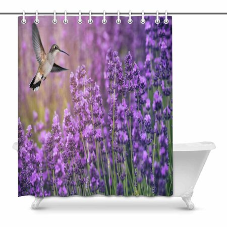 Lavender Flowers Bathroom Decor Shower