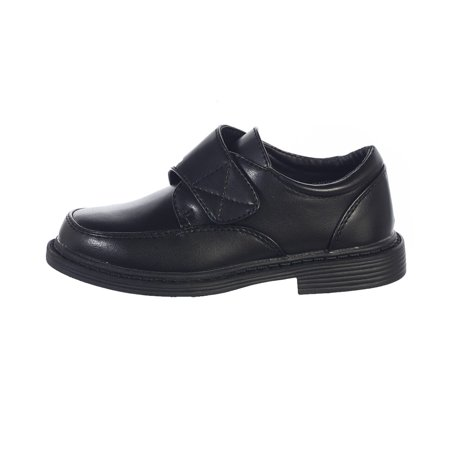 Little Boys Black Velcro Matte Special Occasion Dress Shoes 11-5 - Special Occassion Shoes