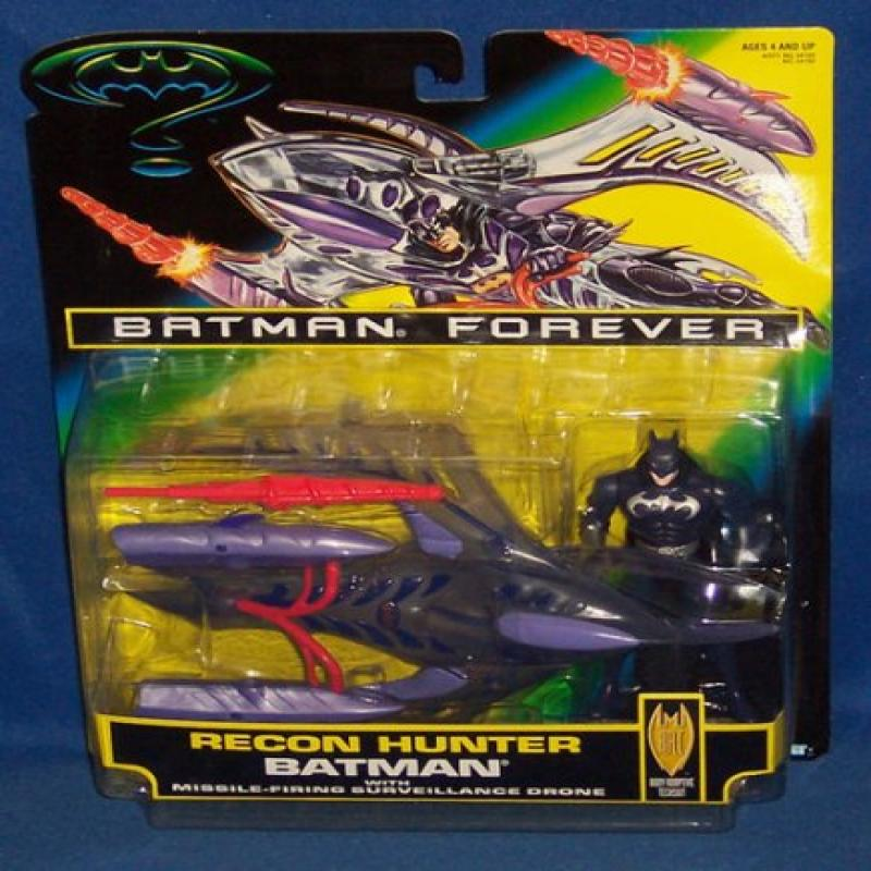Batman Forever Recon Hunter Batman with Missile Firing Surveillance Drone by