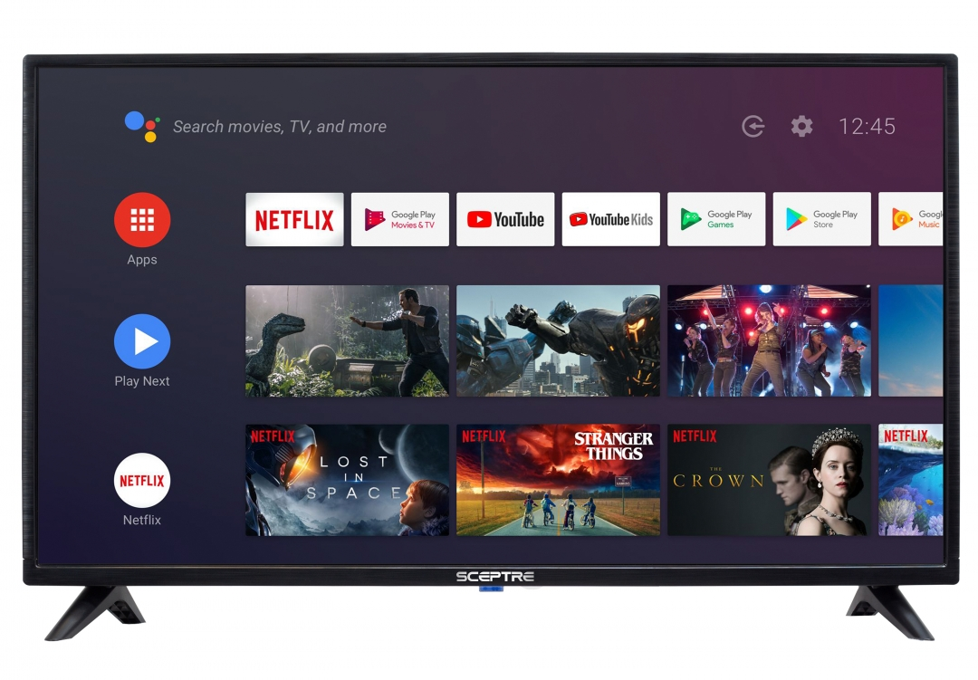 """Sceptre 32"""" Class HD (720p) Android Smart LED TV with Google Assistant (A322BV-SR)"""