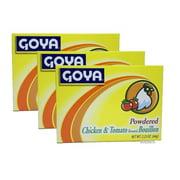 Goya Powdered Chicken And Tomato Bouillon Caldo Sabor a Pollo y Tomate 2.25 oz PACK OF 3