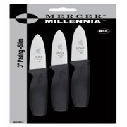 Mercer Culinary Innovations 3-Inch Paring Knives, 3-Pack