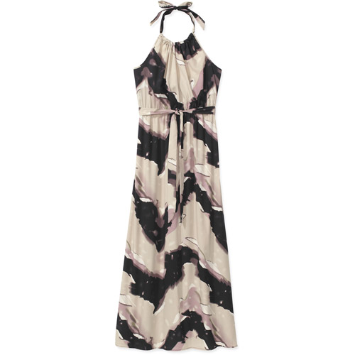 Women's Plus-Size Woven Belted Maxi Dress