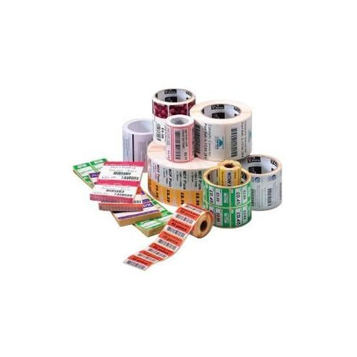 Zebra Z-Ultimate 4000T - Perforated glossy permanent acrylic adhesive polyester labels - pearl white - 4 in x 2 in - 536