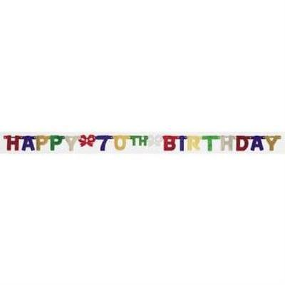 Happy 70th Birthday Jointed Banner, 4PK](70th Birthday Banner)