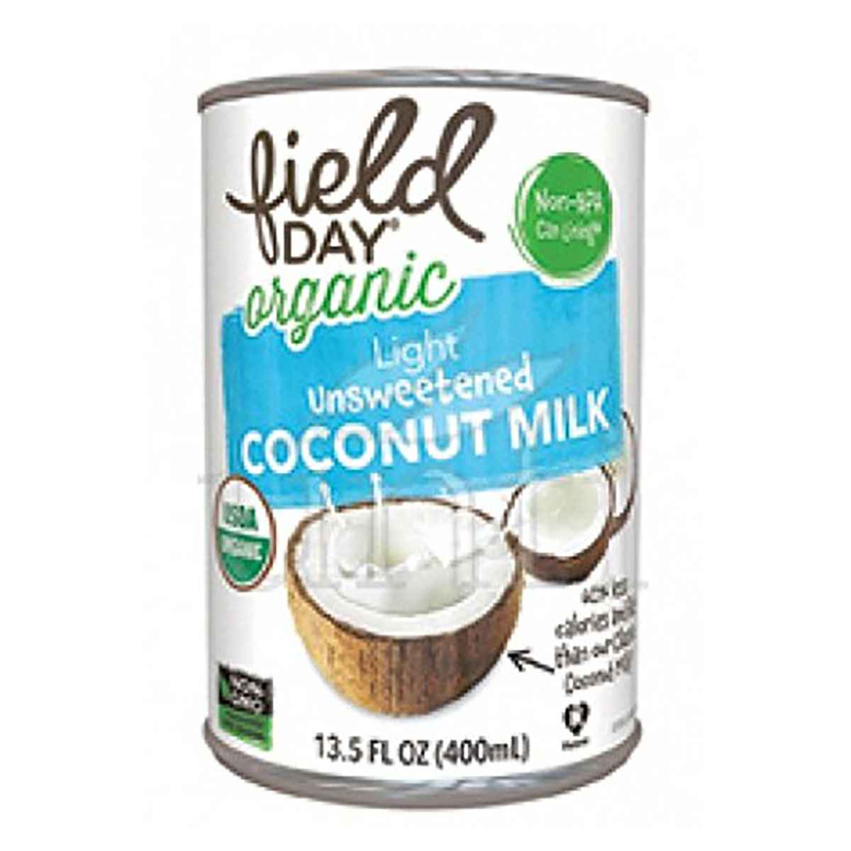 Field Day Organic Coconut Milk; Light Unsweetened - (Case of 12 - 13.5 fl oz)