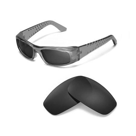 Walleva Black Polarized Replacement Lenses for Spy Optic MC Sunglasses