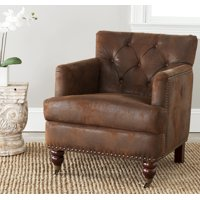 Safavieh Colin Industrial Tufted Club Chair with Casters