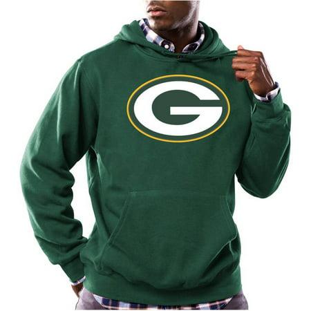 NFL Mens Green Bay Packers Tek Patch Fleece Hoodie by
