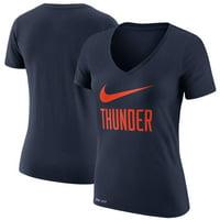 Oklahoma City Thunder Nike Women's Swoosh V-Neck T-Shirt - Navy