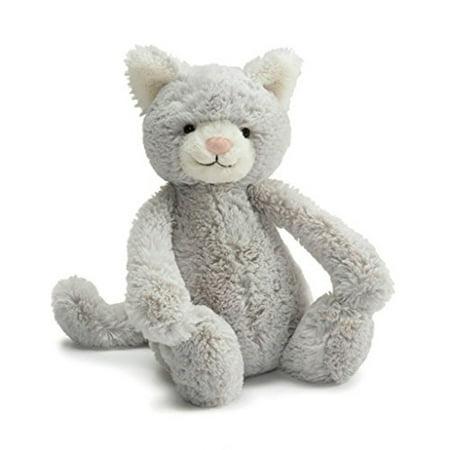 Jellycat Bashful Grey Kitty, Medium, 12 inches