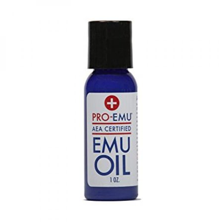 PRO EMU OIL (1 oz) All Natural Emu Oil - AEA Certified - Made In USA - Best All Natural Oil for Face, Skin, Hair and Nails. Excellent for Dry Skin, Burns, Sunburns, Scars, Muscles and