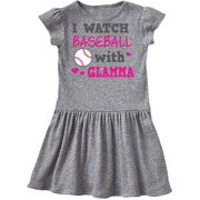 I Watch Baseball with My Glamma Infant Dress