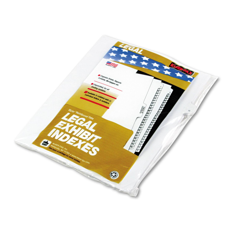 "90000 Series Alpha Side Tab Legal Index Divider, Preprinted ""H\ by Kleer-Fax"